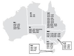 australia map zip code